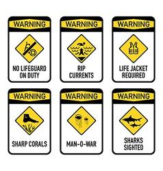 Open water warnings set II vector image