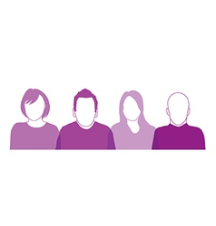 people head silhouettes vector image