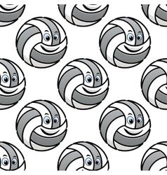 Seamless pattern of cartoon volleyballs vector image vector image