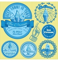 set patterns with different kinds of ice vector image