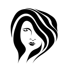 Abstract beautiful woman face vector image vector image