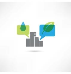 Big eco city vector image vector image
