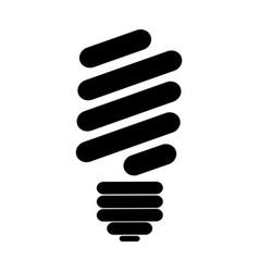 black silhouette of fluorescent light bulb vector image