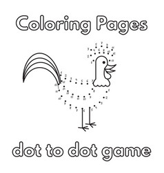 cartoon rooster coloring book vector image vector image