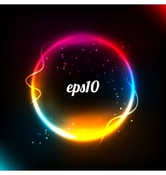 Colorful glowing circle background vector image vector image