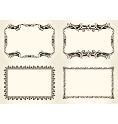 frameworks set Ornate and vintage design elements vector image