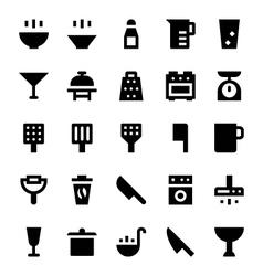 Kitchen utensils icons 2 vector