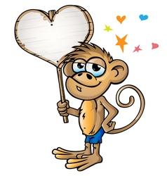 monkey in love vector image