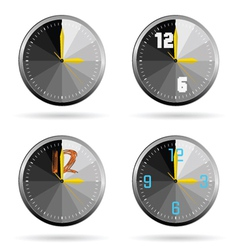 clock set color vector image vector image