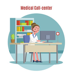 emergency call center concept vector image