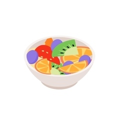 Fruit salad icon isometric 3d style vector