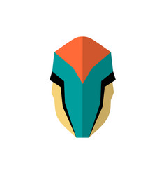 super hero masks in flat style big cartoon vector image vector image