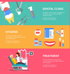 three horizontal banners of medicine concept vector image