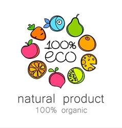 100 organic logo vector