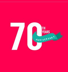 70 years anniversary template design vector