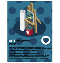 Art color isometric poster vector