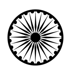 Ashoka Chakra symbol vector image