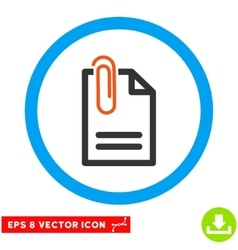 Attach Document Eps Rounded Icon vector image