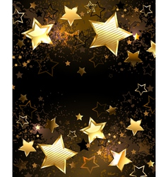 Background with golden stars vector
