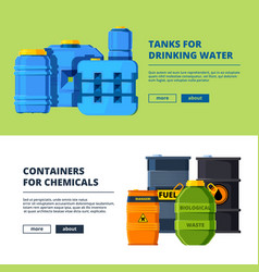banners with barrels various horizontal banners vector image
