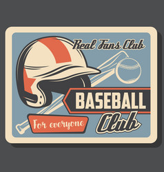 baseball club sport league championship vector image