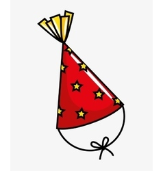 Birthday celebration hat party vector
