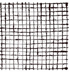 Black splatter grunge line grid background vector