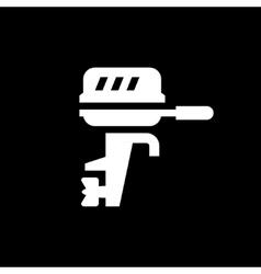 Boat motor icon vector