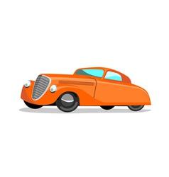 Car Retro Orange vector