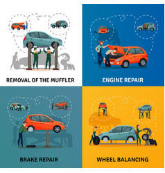 car service concept icons set vector image