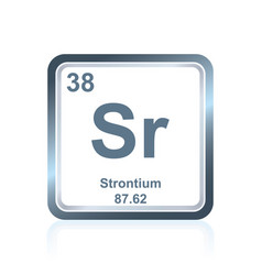 chemical element strontium from the periodic table vector image