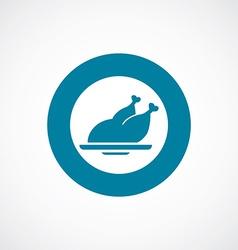 Chicken icon bold blue circle border vector