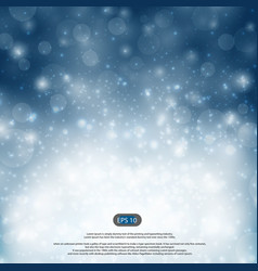 christmas blue and snow falls details background vector image