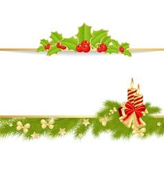 christmas pine frame 3 vector image