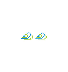 cloud technology icon logo vector image