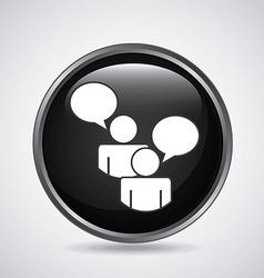 Collaborative teamwork design vector