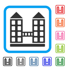 company building framed icon vector image