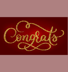 Congrats hand lettering modern brush calligraphy vector