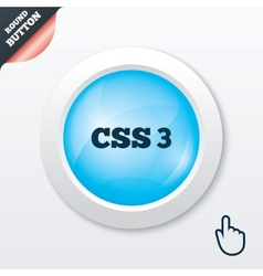 CSS3 sign icon Cascading Style Sheets symbol vector