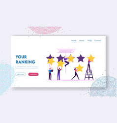 customer review and rating website landing page vector image