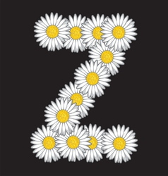 Daisy flower letter vector image