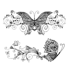 Decorative Butterflies Set vector