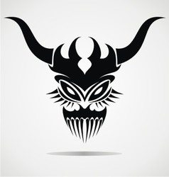 Demon Mask Tattoo vector image