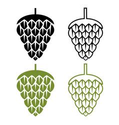 design template set harvest hops vector image