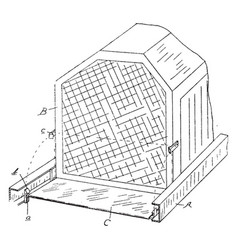 Device radiator vintage vector