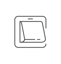 electric switch line outline icon vector image
