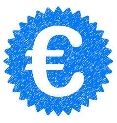 Euro reward seal grunge icon vector