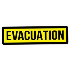 Evacuation stamp typ vector