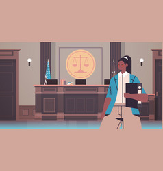 female lawyer holding judge book legal law advice vector image