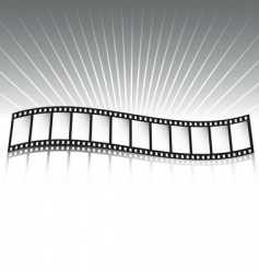 film strip and rays vector image